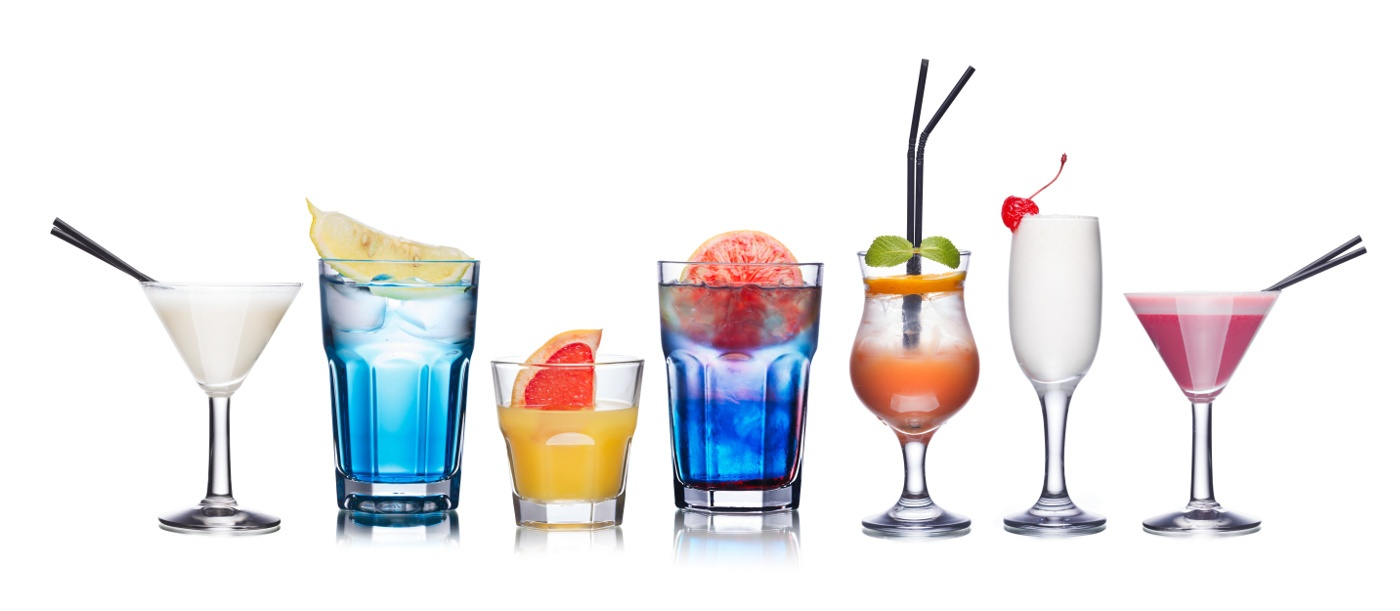Collection Of Refreshing Alcholic Cocktails