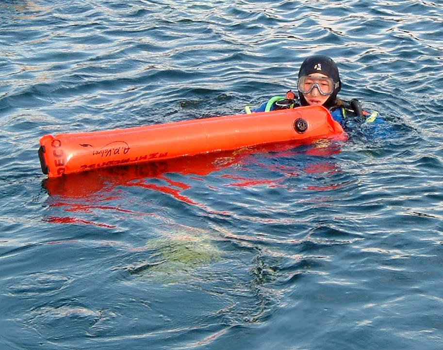 diver with Surface Marker Buoy