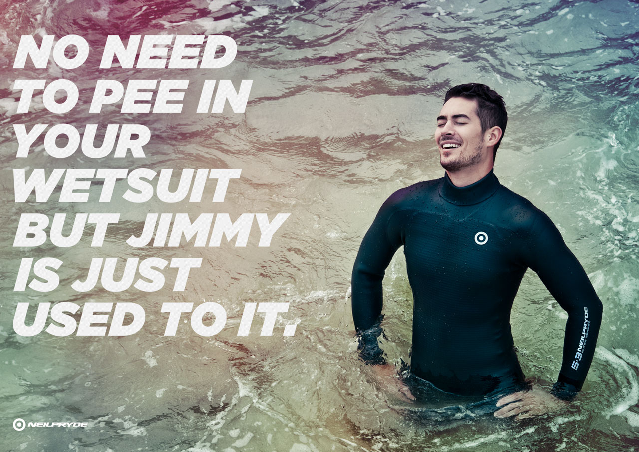 No Need To Pee In Your Wetsuit But Jimmy Is Just Used To It